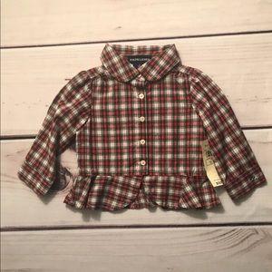 $32.50 NWT Ralph Lauren Girl's Plaid Shirt